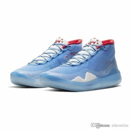 white pearl mesh Canada - Mens kd 12 basketball shoes for sale ASG Blue Aunt Pearl Pink Anthracite Green 2k20 Lebron kevin durant xii sneakers tennis with box size
