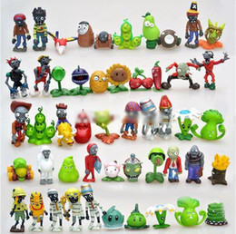 Discount zombie toy dolls - Plants VS Zombies Version 1 2 3 4 5 Action Figures PVC Zombies PVC Cartoon Anime Doll 8pcs set Collection Toy For Childr