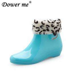 $enCountryForm.capitalKeyWord Australia - Spring Winter Woman Rain Shoes Student Ladies Short Rain Buttons Resistant Buckle Rubber Shoes Round Toe Women Shoes Jelly Color