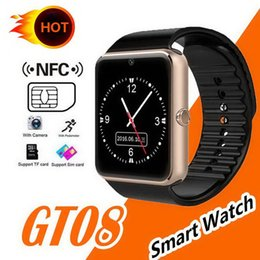 $enCountryForm.capitalKeyWord NZ - Gt08 4 Colors Bluetooth Smart Watch For Apple iphone IOS Android Phone Wrist Wear Support Sync smart clock Sim Card In Stock