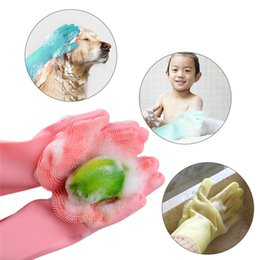 $enCountryForm.capitalKeyWord NZ - Magic Silicone Gloves Cleaning Brush Non-slip Gloves Resuable Household Scrubber Dishwashing Gloves Kitchen Bathroom Tool Christmas Gift new