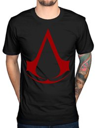 Pirates logos online shopping - Official Mens Assassins Creed Logo Red T Shirt Syndicate Rogue Identity Pirates