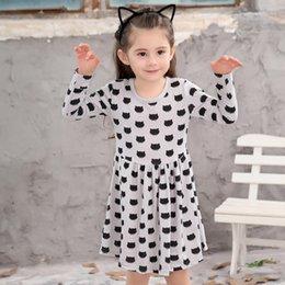 2019 Europa e nos Estados Unidos primavera e outono de mangas compridas vestido de princesa menina de algodão de mangas compridas vestido estampado venda por atacado