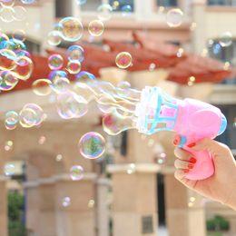 $enCountryForm.capitalKeyWord NZ - Summer Funny Magic Bubble Blower Machine Electric Automatic Bubble Maker Gun with Mini Fan Kids Outdoor Toys Wedding Supplies