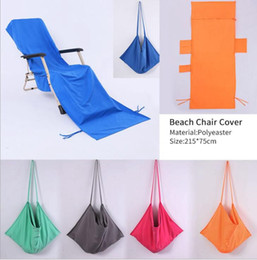 Storage Chair Australia - 75X215CM Lounge Chair Cover Towel Beach Pool Lounge Chair Towel Cover with Convenient Storage Pockets KKA6659