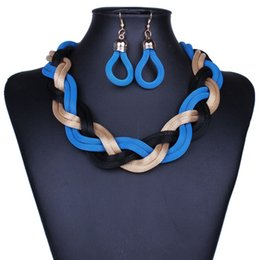 Big Fashion Exaggerated Chains Australia - Fashion Exaggerated Crude Preparation of Metal Chain Necklace retro big earrings sets of chain-P