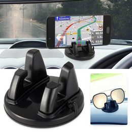 Phone Holder Car Accessory Australia - Car Accessories Interior Phone Holder Ornament 360 Rotation PC+Silicone Wear Resistant Dashboard Decoration Universal
