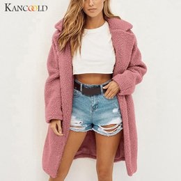 $enCountryForm.capitalKeyWord Australia - KANCOOLD coats Womens Ladies Warm Faux Fur Outerwear Winter Solid Long Parka fashion new coats and jackets women 2019AUG9