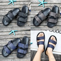 Brown Beach Sandals Australia - new designer sandals Brand Slippers Blue black Brown Shoes Man Casual Shoes Slippers Beach Sandals Outdoor Slippers EVA light Sandals