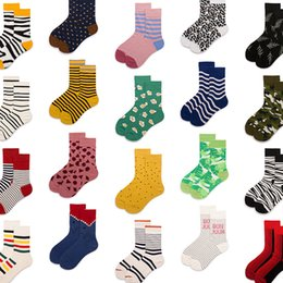 g sock 2019 - 1 pair Men Women Socks Cotton Crew Lovers Socks Funny Animal Cartoon Casual Colorful Dots in tube Sock A-G cheap g sock
