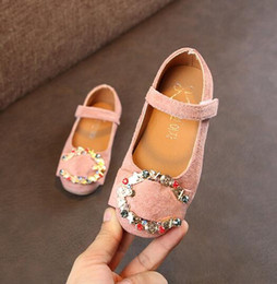 BaBy pink sandals online shopping - Toddler Girl Shoes Spring Autumn Rhinestone Girls Sandals Baotou Kids Baby Sweet Princess Shoes Ballet shoes size