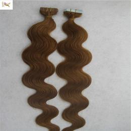 $enCountryForm.capitalKeyWord Australia - Darkest Brown Color Brazilian Skin Weft Tape Hair Extensions 10-30 Inchs Body Wave Hair Weaving 100% Human Hair Weav