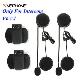 $enCountryForm.capitalKeyWord Australia - 2PCS 3.5MM EJEAS V6 V6 Pro Accessories Earphone Speaker Microphone Clip For Vnetphone V4 V6 Motorcycle Helmet Bluetooth Intercom