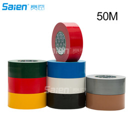 Blue Gray Car NZ - Waterproof Sticky Adhesive Cloth Duct Tape Roll Craft Repair Red Black Blue Brown Green Silvery Gray White Yellow