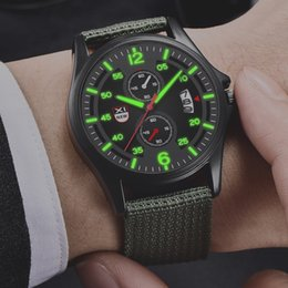 Watch Men Nylon Australia - Men Sport Nylon Band Waterproof Date Analog Quartz Wrist Watches Army Men's Watch Outdoor Male Clock Gift relogio A40