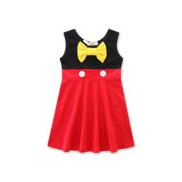 Snow white clotheS for girlS online shopping - Promotion Colors Girls Cute Princess Dress Kids Cute Cotton Vest Skirt Snow White Belle Mermaid Clothing For T W190421
