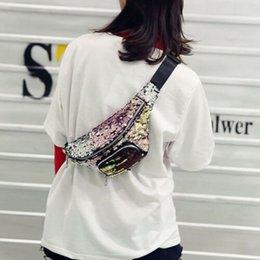 $enCountryForm.capitalKeyWord Australia - Women Sequined Bum Bag Waist Pack Fashion Ladies Paillette Holiday Travel Wallet Pillow Pouch