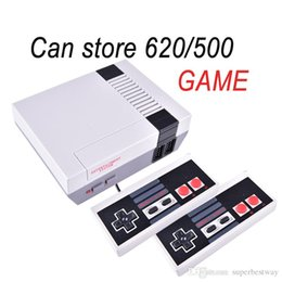 Mini TV Game Console pode armazenar 620 Video Handheld para consoles de jogos NES com caixas de varejo frete grátis OTH733 em Promoção