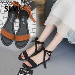 In Quality Shoes Woman Summer Sandals Solid Color New Arrival All Match Peep Toe Korean Style Soulier Femme Butterfly Knot Tip Binding Excellent