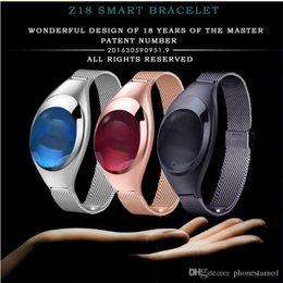 $enCountryForm.capitalKeyWord Australia - Fashion Z18 Women Smart Bracelet Blood Oxygen Heart Rate Monitoring SNS Reminder Pedometer Smartwatch For Android IOS jewelry Girl Wristband