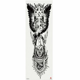 large men tattoo stickers UK - 1 Piece Faceless Men Temporary Tattoo Sticker With Arm Body Art Big Sleeve Large Fake Tattoo Sticker