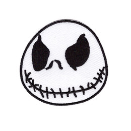 $enCountryForm.capitalKeyWord Australia - Computer embroidery Jack Skellington Nightmare Before Christmas Movie Cartoon Sew Iron on Patch for clothing