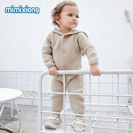 $enCountryForm.capitalKeyWord NZ - Baby Rompers Winter Warm Clothes For Newborn Infantil Bebes Girls Knitted Overalls Hoody Long Sleeve Children Boys Outfits 0-18m MX190801