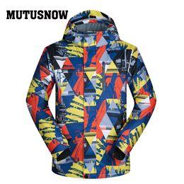 Polyester Jacket Windproof Australia - Ski Jacket Men Brands New Arrival Windproof Waterproof Breathable Male Snow Ski Coat Hiking Warm Winter Skiing And Snowboarding Jacket Men