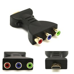 $enCountryForm.capitalKeyWord Australia - Gold-plated HDMI Male to 3 RGB RCA Video Audio Adapter AV Component Converter for 720P 1080iP 1080P HATV DVD Projector 1