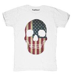 New T-Shirt Blaze Man Skull Flag America Gift Idea T-shirt Men Man s Unique  Custom Short Sleeve Boyfriend s Plus Size Party T Shirts 3e4765a52c60