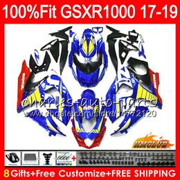 $enCountryForm.capitalKeyWord Australia - Injection For SUZUKI GSX R1000 glossy blue new GSX-R1000 GSXR 1000 17 18 19 17HC.3 L7 L8 GSXR-1000 K17 GSXR1000 2017 2018 2019 Fairing kit