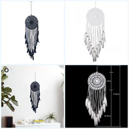 $enCountryForm.capitalKeyWord Australia - Wall decoration Hangings Pure white Pure black beautiful Hanging ornaments handmade Feather making Dreamcatcher Feather decorate O 19 5ms p1