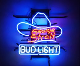 bud light beer neon sign Australia - New Star Neon Sign Factory 17X14 Inches Real Glass Neon Sign Light for Beer Bar Pub Garage Room Bud Light George.