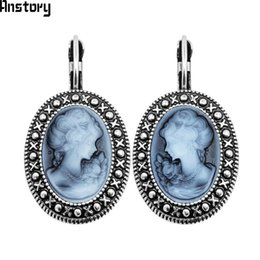 7ce026923 Red Queen Earrings Australia - Drop Earrings Lady Queen Cameo Hook Earrings  For Women Vintage Look