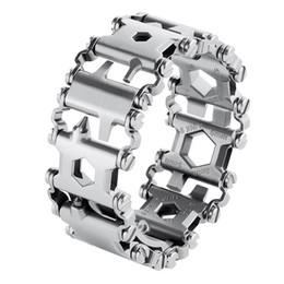Wear Bracelet Australia - Man Outdoor Spliced Bracelet Multifunctional Wearing Screwdriver Tool Hand Chain Field Survival Bracelet Outdoor Rescue Supplies