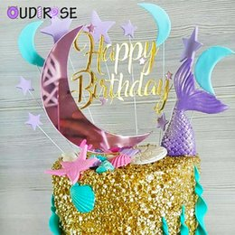 $enCountryForm.capitalKeyWord NZ - OUDIROSE Birthday Party Acrylic Moon Stars Cake Topper Birthday Dessert Decoration Children's Day Party Supplies Lovely Gifts