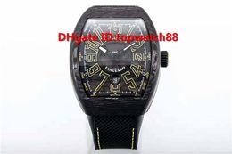 $enCountryForm.capitalKeyWord UK - R New Luxury Watch Automatic Sapphire Carbon Fiber Case Yellow Arabic numerals Dial Rubber Nylon Strap Solid Case Back Luminous Mens Watch