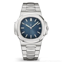 $enCountryForm.capitalKeyWord Australia - Top selling Watch Men Automatic Casual Watches 5711 Silver Strap Blue Stainless Mens Mechanical Orologio di Lusso Wristwatch Date Chrono