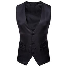 $enCountryForm.capitalKeyWord Australia - Dress Vests For Men Casual Slim Fit Mens Suit Vest Single breasted Waistcoat Gilet Homme Formal Business Jacket XXL d90628