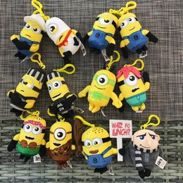 home birthday supplies Australia - 3D Keychain Despicable Me Cartoon Minions Keychain Bag Pendant Girls Boys Kids Plush Toys Cute Keyring for car Ornaments party supplies