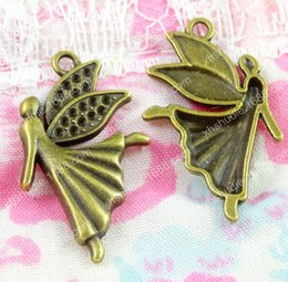 $enCountryForm.capitalKeyWord Australia - 80pcs 29*17MM Antique bronze tibetan flying fairy angel charms for bracelet vintage metal pendant earring handmade DIY jewelry making