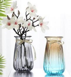 $enCountryForm.capitalKeyWord Australia - Creative simple transparent colored glass vase hydroponic green plant lily flower vase living room decoration decoration