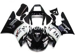$enCountryForm.capitalKeyWord Australia - New ABS Compression Mold motorcycle plastic Fairings Kits Fit For YAMAHA YZF-R1-1000 1998-1999 98 99 Fairing bodywork set black white