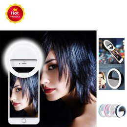 camera 5s UK - Portable Rechargeable 36 Led Ring Selfie Light Photography Flash for iPhone 5 5S 6 7 Samsung Xiaomi Smartphone Camera Flashlight