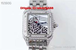 Luxury Square Watch Swiss Australia - New Luxury Watch 18K Rose Gold 3D Diamond Leopard Dial Ladies Watch Swiss Quartz Sapphire Crystal Square Womens Watches
