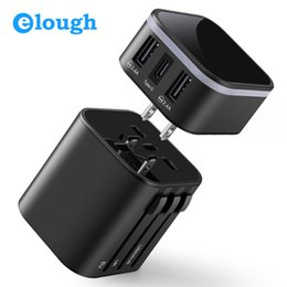 $enCountryForm.capitalKeyWord Australia - Elough Universal Travel Adapter Usb Socket Type C 3.4 A Fast Charging Eu Us Uk Au Us Plug For Mobile Phone Multi Usb Charger T190627