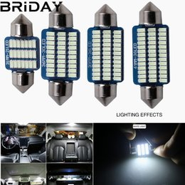 blue festoon bulb 2019 - Festoon 31mm 36mm 39mm 41mm LED Bulb C5W C10W 3014 SMD Canbus Error Free Auto Interior Doom Lamp Car Styling Light white