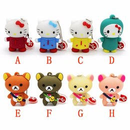usb flash animals Australia - Bears hello kitty usb flash drive animal pendrive 4gb 8gb 16gb 32gb 64GB pen drive USB 2.0 flash Memory Stick keychain