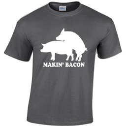 food t shirts Australia - MAKIN BACON MENS T SHIRT FUNNY RUDE FOOD DESIGN JOKE GIFT PRESENT TOP Tees Custom Jersey t shirt