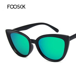 color tinted sunglasses 2019 - FOOSCK High Quality Women New Cat Eye Sunglasses Tinted Color Lens Men Vintage Shaped Sun Glasses Female Eyewear cheap c